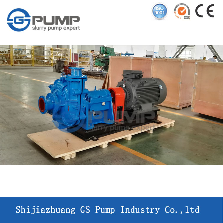 high head electric centrifugal horizontal sand mining slurry pump